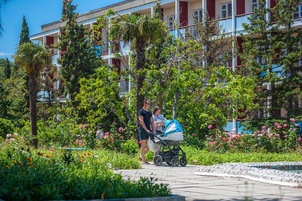Парк санатория Форос в Крыму