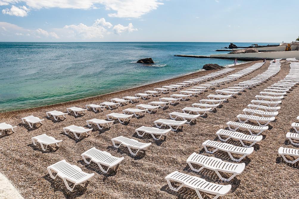 Пляж санатория Форос в Крыму